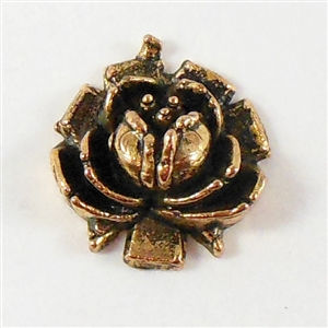 vintage roses, metalized roses, plastic, ant gold