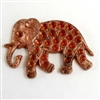 vintage French elephants, elephant stampings, pat