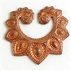 brass collars, brass filigree, gingerbread patina