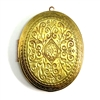 brass lockets, vintage lockets, patina brass, 53mm, leaf design, unplated brass, raw brass locket, locket, vintage, victorian locket, Bsue Boutiques, jewelry supplies