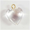 crystal heart drops, heart charms, crystal, 07644, imitation crystal hearts, acrylic heart drops, B'sue Boutiques, vintage jewellery supplies, ear ring drops, puffy hearts