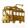 vintage trolley, brass streetcar, patina, 08778, B'sue Boutiques, nickel free jewelry supplies, vintage jewelry supplies, patina brass, antique brass, brass jewelry parts