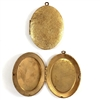 brass lockets, vintage lockets, patina, 08822, 64 x 48mm, B'sue Boutiques, vintage jewelry supplies, brass jewelry parts, floral lockets, locket pendants,