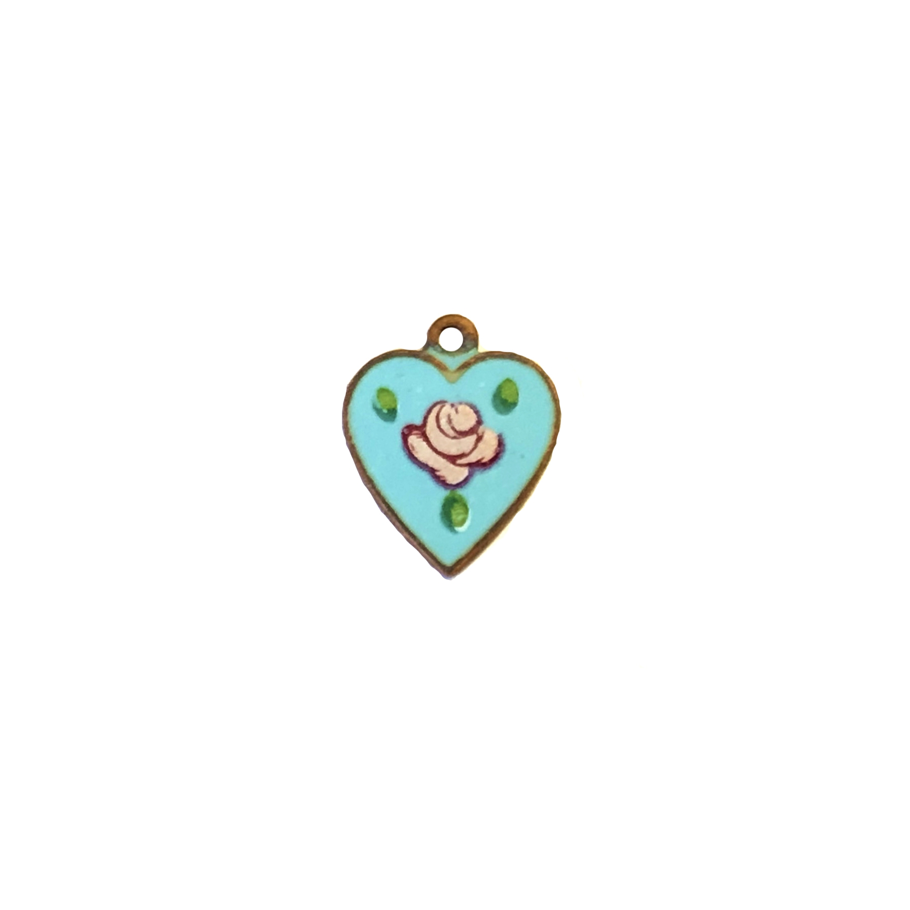 patina brass, blue enamel heart charm, 09027, heart pendant, heart charm, brass heart, heart, jewelry making, jewelry supplies, Bsue Boutiques, nickel free, US made, heart findings, rose heart charm, pink rose heart