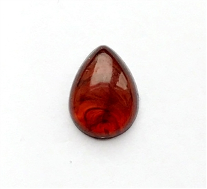 vintage warm amber, pear stone, teardrop, amber, stone, 18x13mm, flat back, vintage lucite stone, black swirls, plastic, B'sue Boutiques, jewelry findings, vintage supplies, jewelry supplies, jewelry making, us made, teardrop jewelry, 09487