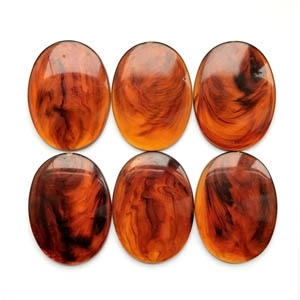 vintage warm amber, oval stone, oval, amber, stone, 40x30mm, flat back, vintage lucite stone, black swirls, plastic, B'sue Boutiques, jewelry findings, vintage supplies, jewelry supplies, jewelry making, us made, round stone jewelry, 09504