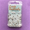 Silver eyelet rivets, 48 pieces, 04347