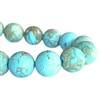 Semi02347, stone beads, Blue Emperor, Aqua Terra, jasper, sea sediment jasper, 10mm beads, semi precious,stone beads, turquoise, robins egg blue, B'sue Boutiques, 10mm semi precious beads, designer beads, trendy, fashion beads, pale blue beads