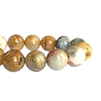 Semi02348, stone beads, Mexican Crazy Lace, Agate, agate beads, 8mm agate beads, 8mm semi precious beads, designer beads, designer findings, stone, round stone beads, B'sue Boutiques,trendy, fashion, hot, creamy beads, tan and cream beads