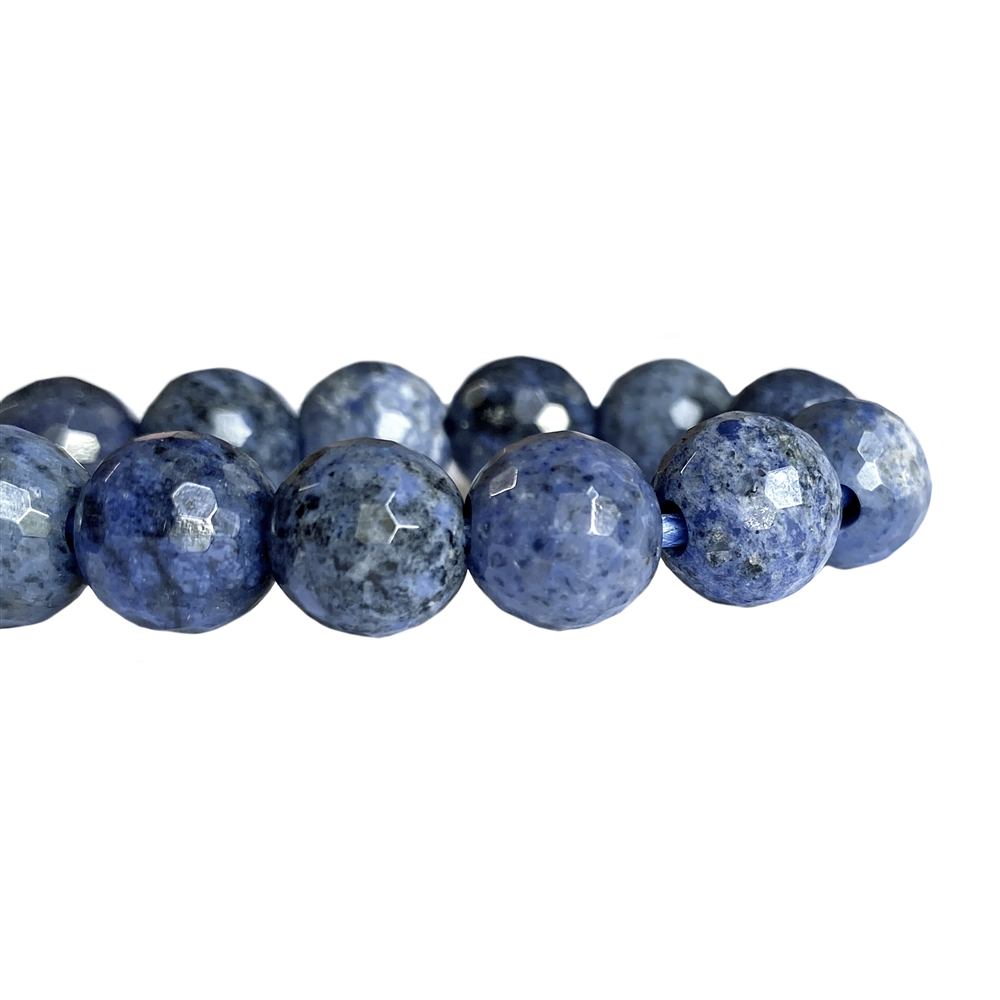 Semi02359, Sunset Dumorterite, Faceted 8mm beads, stone beads, semi precious stone beads, semi precious, color of dark blue jeans,blue jeans stone, 8mm, faceted stone beads, B'sue Boutiques, temp-strung beads, semi precious blue beads, trendy beads