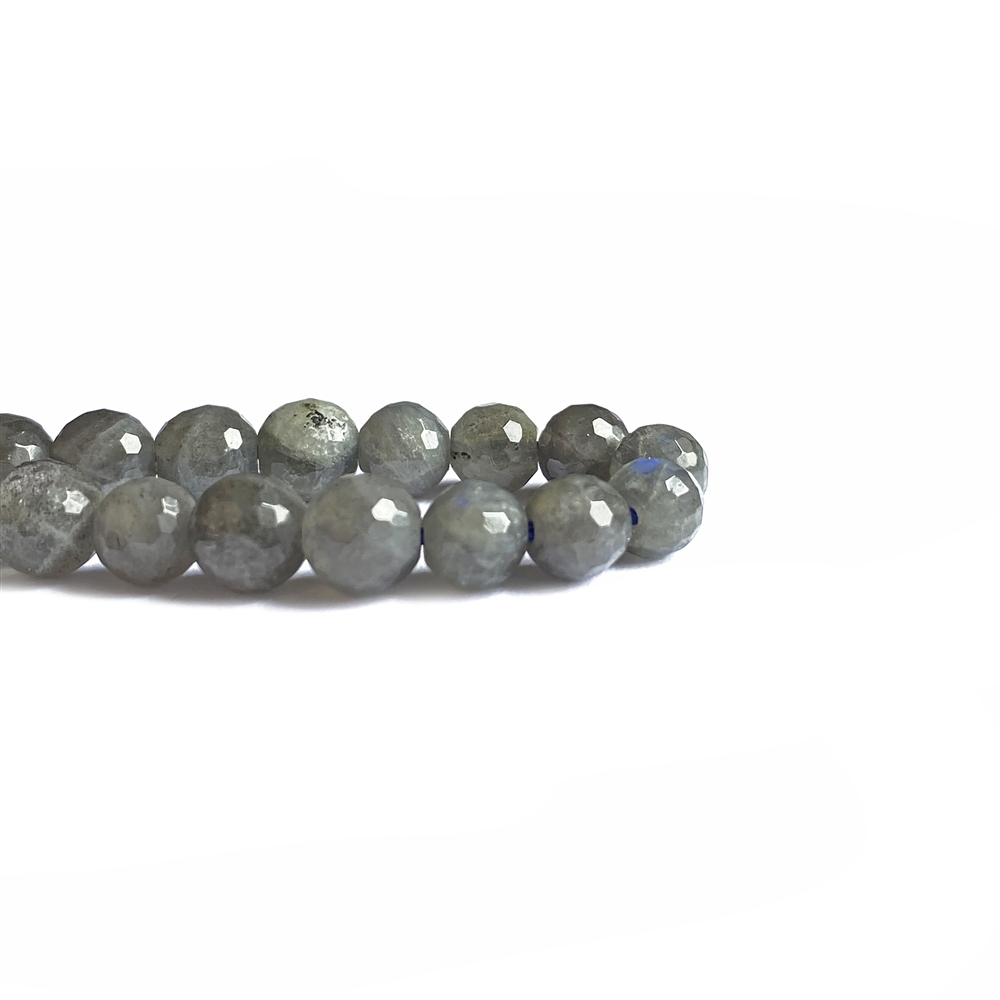 dark labradorite beads, faceted round beads, faceted beads, jewelry beads, labradorite, labradorite beads, natural beads, 6mm, beads, semi-precious beads, stone beads, jewelry making, jewelry supplies, vintage supplies, B'sue, designer beads, 02410