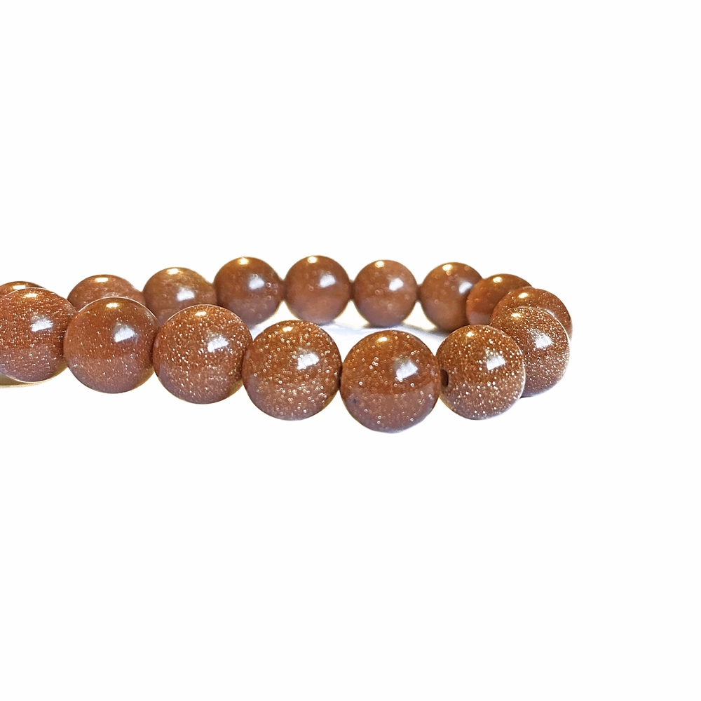 semi-precious beads, goldstone beads, 8mm round beads, goldstone, goldstone bead, round stone, natural stone beads, semi-precious, bead stone, B'sue Boutiques, beads, beads with gold flakes, sparkling beads, beading supplies, 8mm, 02488, 2.5mm hole