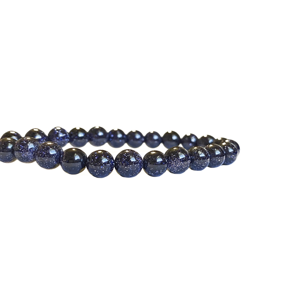 semi-precious beads, blue goldstone beads, 6mm round beads, blue goldstone, midnight goldstone beads, round stone, natural stone beads, semi-precious, bead stone, B'sue Boutiques, beads, beads with gold flakes, sparkling beads, 6mm, 02491