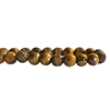 brown tiger eye beads, semi precious beads, tiger eye, brown, brown tiger eye, beading supplies, cat's eye beads, tiger cat's eye beads, 4mm, natural beads, red, brown, white bands, stone beads, polished, US-made, B'sue Boutiques, jewelry bead, 02472