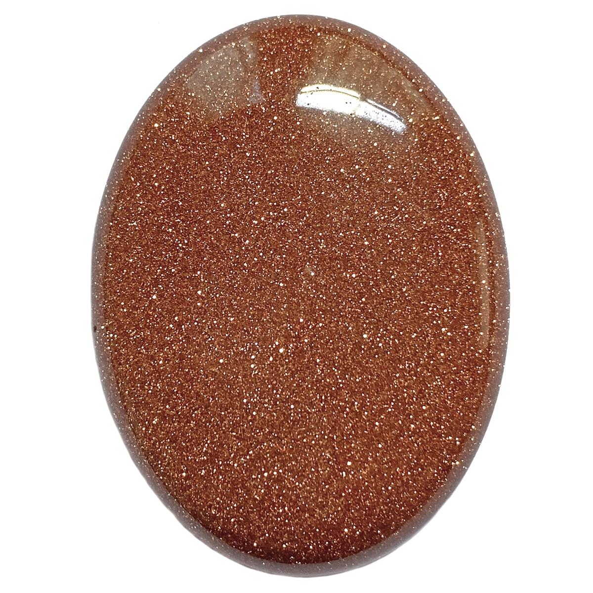 Semi Precious Stones Goldstone 40x30mm Stone Cabochon Large