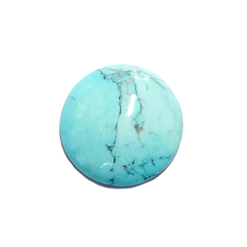 semi precious stones, turquoise, Chinese turquoise focal stone, 18mm stone cabochon, cabochon stone, natural stone, dyed howlite, turquoise blue, black matrix stone, semi precious cabochon, 18mm, cab stone, B'sue Boutiques, cabochon, jewelry making, 03579