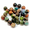 semi precious stones, semi precious beads,  jasper, impression jasper, earth tones, natural stones, semi precious jasper beads, 4mm jasper beads, sea sediment jasper, mixed color semi precious beads, stone beads, mixed impression jasper, 03600