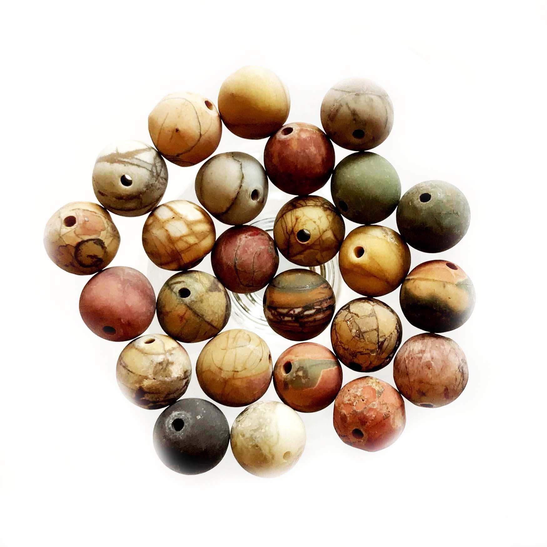 semi-precious beads, Jasper, red creek, stone beads, round, semi-precious stones, red beads, natural beads, jasper beads, red jasper beads, white lace Jasper, Jasper, 8mm jasper beads, B'sue Boutiques, 8mm semi-precious stone beads, 03606