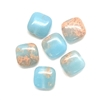 Gemstone Beads, powder blue jasper, square, 03674, 8mm beads, jasper blue, semi precious beads, B'sue Boutiques, beading supplies, smooth beads, rounded square