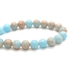 Gemstone Beads, powder Blue jasper, 8mm, 03675, jasper blue, semi precious beads, B'sue Boutiques, beading supplies, smooth beads, round beads