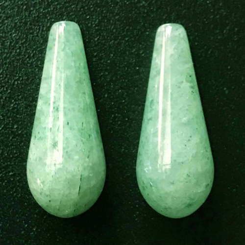 green aventurine big teardrop, semi precious teardrop, 23x9mm, green teardrop, green, aventurine, green aventurine, teardrop, earrings, semi precious, transparent, stone, us made, B'sue Boutiques, jewelry stone, jewelry making, shiny gloss, 03679