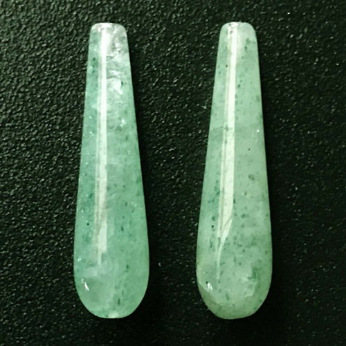green aventurine teardrop, semi precious teardrop, 24x6mm, green teardrop, green, aventurine, green aventurine, teardrop, earrings, semi precious, transparent, stone, us made, B'sue Boutiques, jewelry stone, jewelry making, shiny gloss, 03686