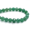 Green Aventurine, Faceted Round, 8mm, 03702, faceted round beads, faceted beads, jewelry beads, aventurine beads, natural beads, beads, semi-precious beads, stone beads, jewelry making, jewelry supplies, vintage supplies, B'sue Boutiques