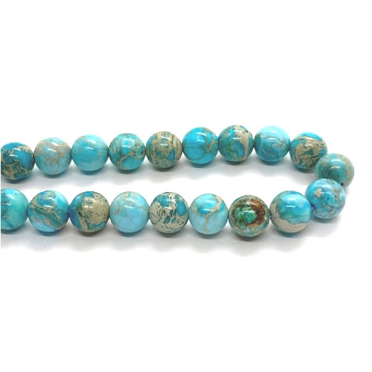 Gemstone Beads, aqua terra jasper, 8mm, 03704, jasper, semi precious beads, B'sue Boutiques, beading supplies, smooth round beads, turquoise