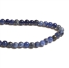 Sodalite Beads, Round, 4mm, 03706, sodalite stones, blue jeans stone, smooth, semi precious, B'sue Boutiques, dark blue semi precious, natural stones, trendy semi precious beads, jewelry supplies