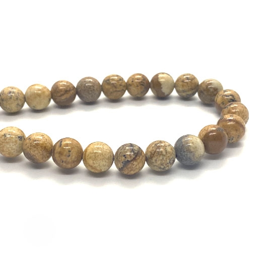 semi precious stone beads, jasper, landscape, jasper, landscape jasper, earth tones, natural beads with earth tones, stone beads, jasper stones, 8mm jasper stones, 8mm stone beads, B'sue Boutiques, semi precious beads, picture jasper, 03797