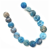 crazy lace agate stones, dyed blue, semi precious stones, 04217, agate, 12mm, dyed natural stones, semi precious, semi precious gemstones, natural, lace agate, crazy lace agate, jewelry making, jewelry supplies, B'sue Boutiques, coin beads