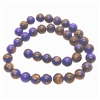 Lapis and Bronzite beads, round, 10mm, lapis, natural stones, semi-precious stones, gemstones, lapis stones, jewelry making, vintage supplies, jewelry supplies, 10mm, jewelry stones, 04221, smooth beads, natural stone beads