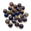 tiger eye beads, semi precious beads, tiger eye, blue and yellow tiger eye, beading supplies, cat's eye beads, tiger cat's eye beads, 8mm, natural beads, stone beads, polished, US-made, B'sue Boutiques, jewelry bead, 04589