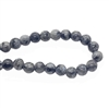Grey and black Larvakite Beads, beads, Larvakite, round beads, grey beads, natural beads, jewelry beads, 8mm, chatoyancy, semi-precious, jewelry making, vintage supplies, jewelry supplies, stone beads, 04593