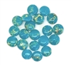 gemstone beads, sea sediment turquoise blue, 10mm beads, jasper dyed turquoise blue, semi precious beads, B'sue Boutiques, 05223, beading supplies, smooth beads,