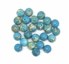 gemstone beads, sea sediment turquoise blue, 8mm beads, jasper dyed turquoise blue, semi precious beads, B'sue Boutiques, 05226, beading supplies, round beads,