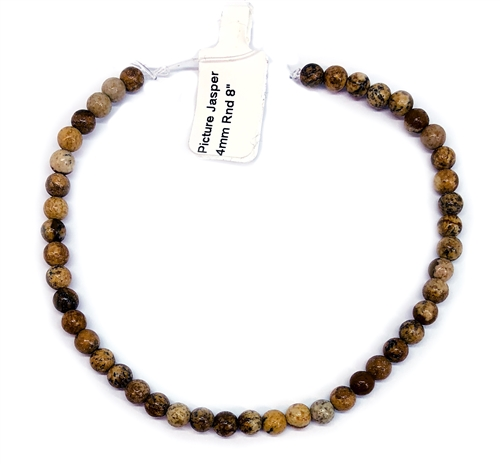 semi precious stone beads, jasper, landscape, jasper, landscape jasper, earth tones, natural beads with earth tones, stone beads, jasper stones, 4mm jasper stones, 4mm stone beads, B'sue Boutiques, semi precious beads, landscape jasper beads, 05238
