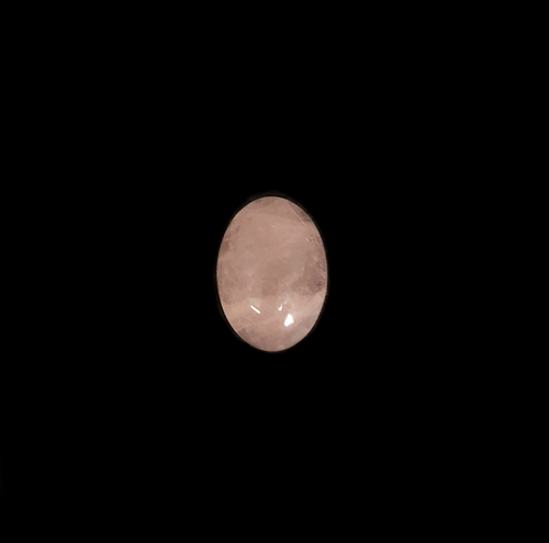 rose quartz stone, semi precious stone, rose quartz, quartz, pale pink, focal stone, 14x10mm, cabochon, natural stone, rose red hue, white, rose stone, semi stone, transparent, oval, glossy shine, oval, stone, us made, B'sue Boutiques, jewelry stone,05834