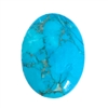 semi precious stones, 40x30mm, stone cabochon, cabochon stone, natural stone, dyed howlite, turquoise blue, matrix stone, semi precious cabochon, cab stone, B'sue Boutiques, cabochon, jewelry making, 07134, flat back