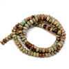 rondelle beads, semi precious stone beads, jasper, picture jasper, wild horse jasper, earth tones, natural beads with earth tones, stone beads, jasper stones, 4mm jasper stones, 4mm stone beads, B'sue Boutiques, semi precious beads, 4mm, 07948