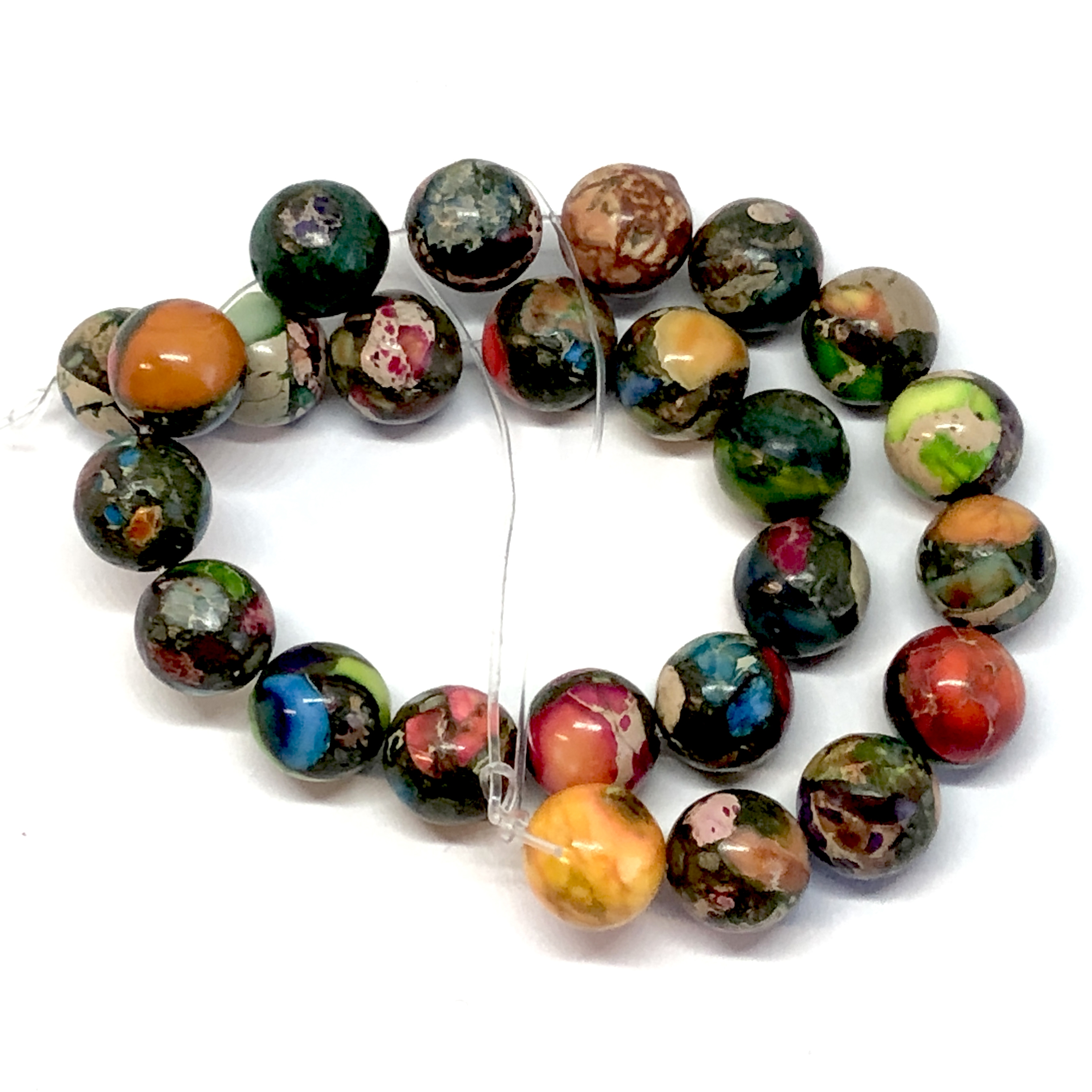 semi precious stones, semi precious beads,  jasper, impression jasper, earth tones, natural stones, semi precious jasper beads, 8mm, jasper beads, sea sediment jasper, mixed color semi precious beads, stone beads, mixed impression jasper, 08800