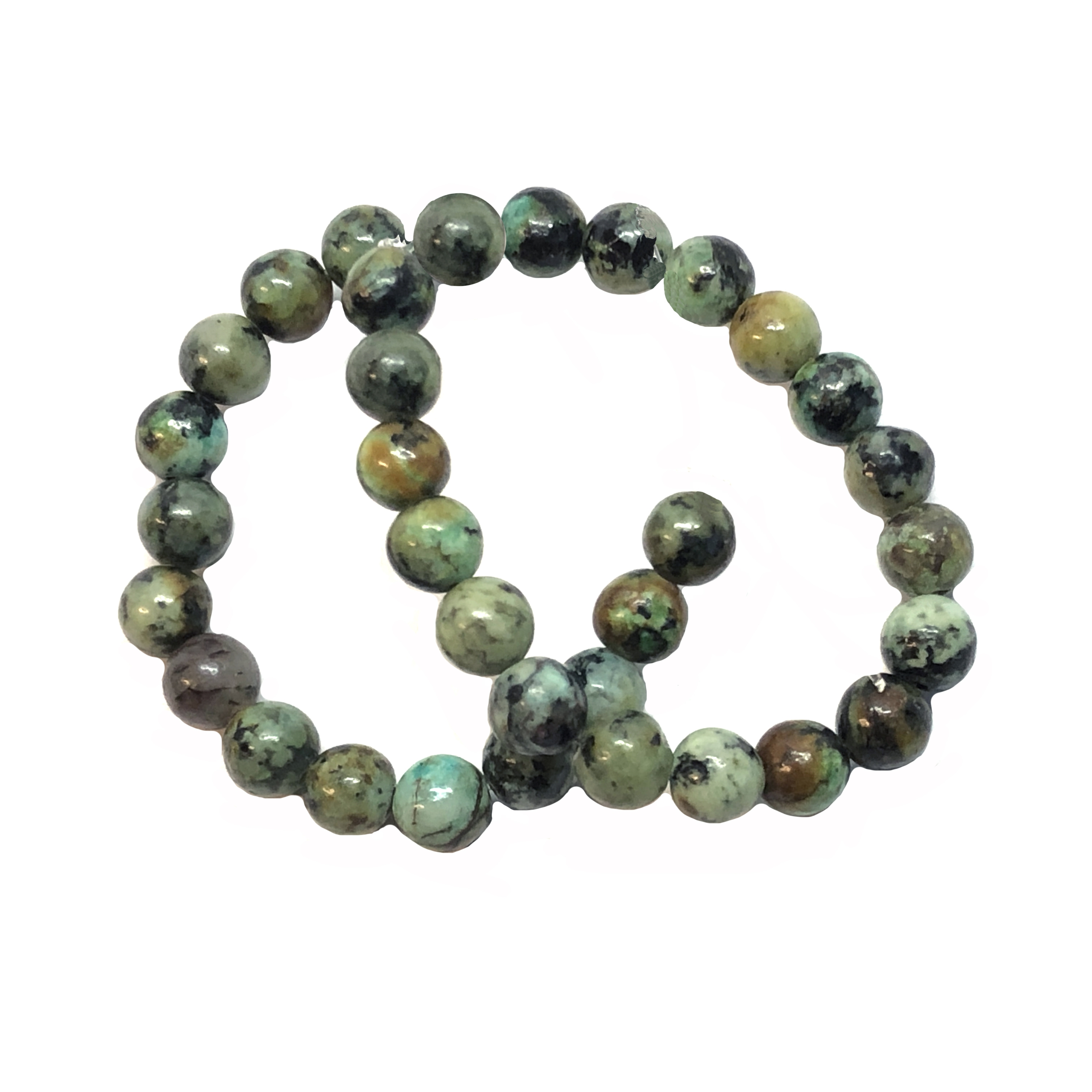 semi precious stone beads, African turquoise, earth tones, natural beads with earth tones, stone beads, turquoise, 6mm, 6mm stone beads, B'sue Boutiques, semi precious beads, 08804