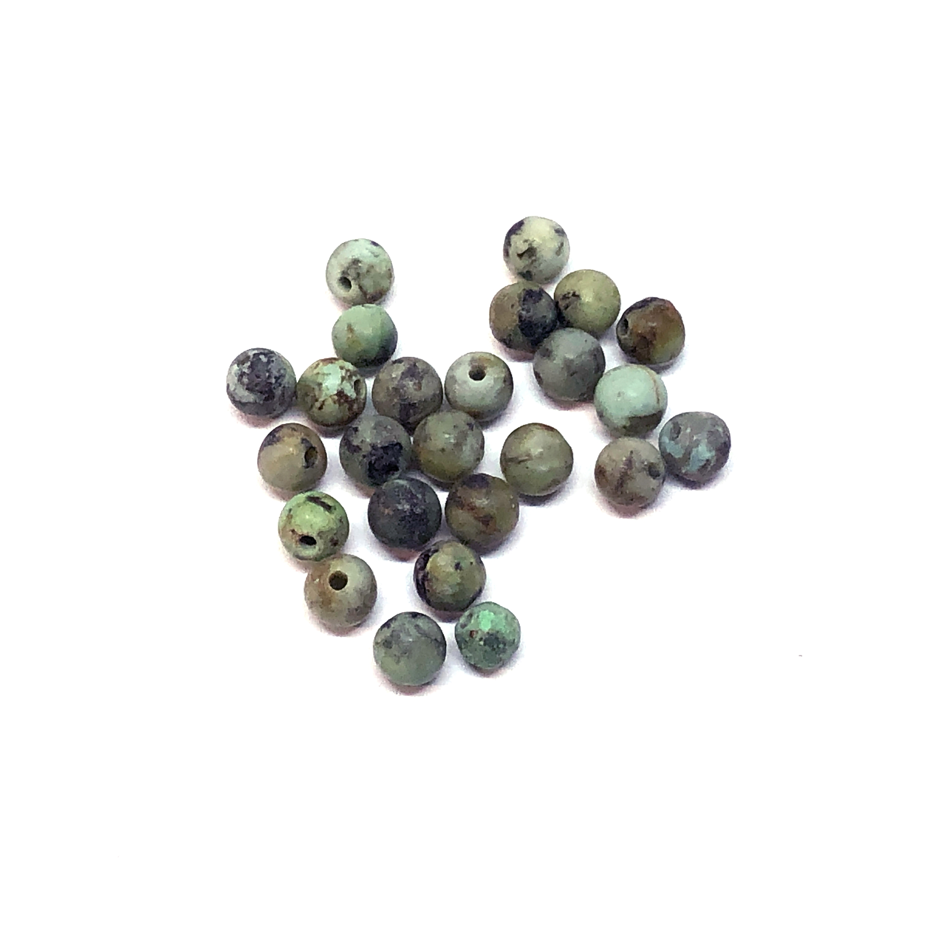 semi precious stone beads, African turquoise, earth tones, natural beads with earth tones, stone beads, turquoise, 4mm, 4mm stone beads, B'sue Boutiques, semi precious beads, 08805
