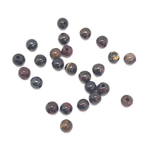 semi precious stone beads, Tiger Iron beads, earth tones, natural beads with earth tones, stone beads, beads, 4mm, 4mm stone beads, B'sue Boutiques, semi precious beads, 08807