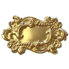 picture frame, frame, 22K satin gold, leafy motif, brass stamping, 29x48mm, motif, US-made, Victorian, B'sue Boutiques, leafy, floral, gold brass, Victorian style, nickel free, jewelry making, vintage supplies, jewelry supplies, jewelry findings, 02588