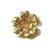 tea rose, 22K satin gold, two layers, gold brass, vintage, brass, brass stamping, flower, rivet, tea rose, 28mm, flower jewelry, rose jewelry, US-made, vintage style, nickel-free, jewelry making, vintage supplies, jewelry supplies, jewelry findings, 02592