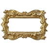 picture frame, frame, 22K satin gold, leafy motif, brass stamping, motif, US made, victorian, brass, B'sue Boutiques, mount, gold brass, bezel, victorian style frame, jewelry making, vintage supplies, jewelry supplies, jewelry findings, 57x37mm, 02596