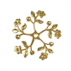 pinwheel floral sprig, 22K satin gold brass, gold brass, satin gold, gold, floral sprig, pinwheel, flower, flower sprig, petal sprig, floral stamping, 36mm, leave sprig, jewelry sprig, jewelry stamping, vintage supplies, jewelry making, jewelry, 02667
