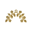floral leaf sprig, 22K satin gold brass, gold brass, satin gold, floral leaf, lef sprig, flower, leaf stamping, jewelry leaf, gold jewelry, jewelry making, vintage supplies, jewelry supplies, beading leaves, 21x33mm, sprig, jewelry findings, B'sue, 02680