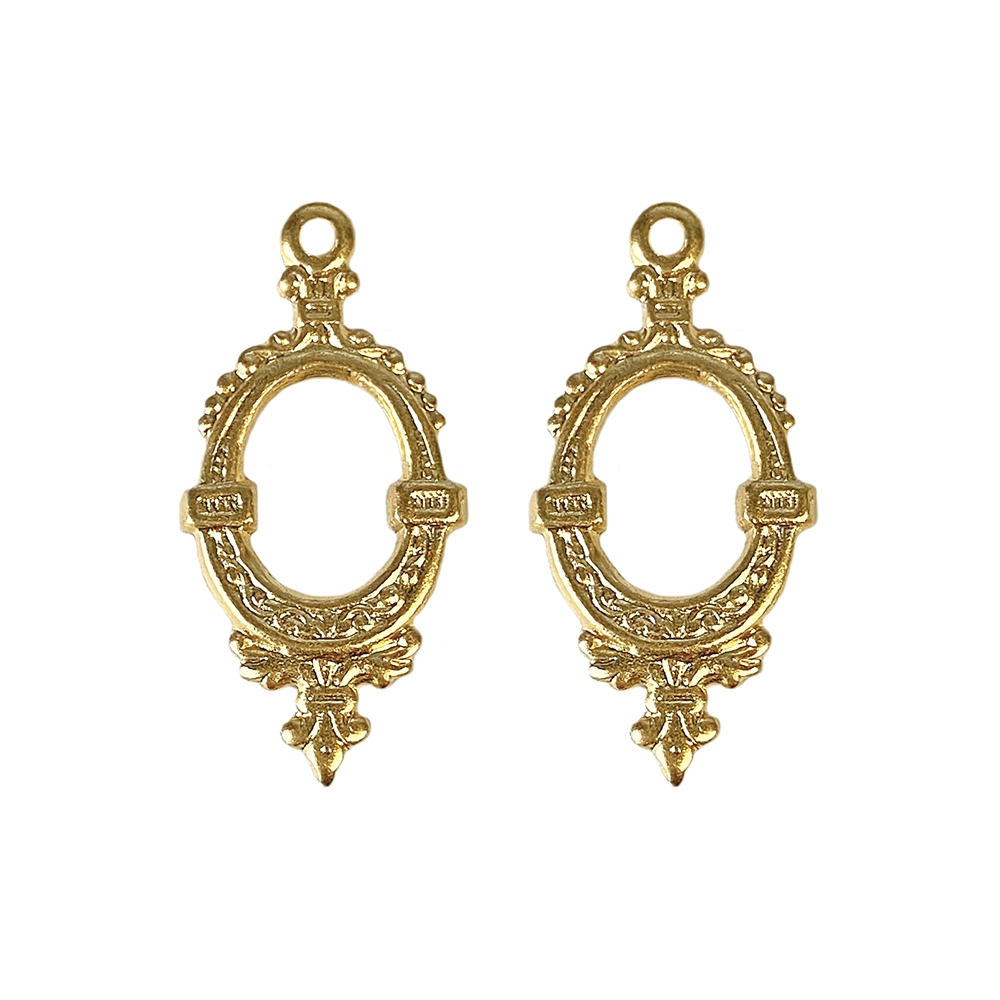Victorian ear drops, 22K satin gold brass, gold brass, satin gold, gold, earrings, charms, drops, jewelry drops, elegant drops, eardrops, 30x15mm, floral design, jewelry making, jewelry supplies, vintage supplies, jewelry findings, gold drops, 02692